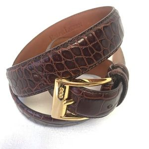 Ralph Lauren Animal Print Genuine Leather Belt